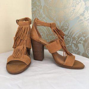 """Lucky Brand 'LEESHA"""" Fringe City Sandals"""